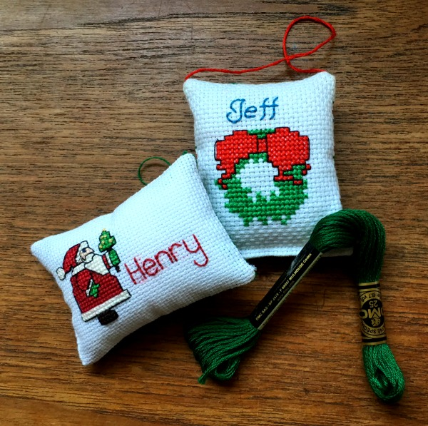 Cross-Stitch Patterns: Personalized Christmas Stocking Tags